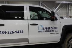 Car wrap in Stroudsburg on white truck