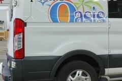 Oasis car wrap on white truck in Phillipsburg, NJ