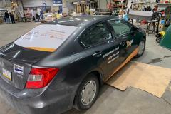 Car wrap in Allentown, PA, passenger's side and rear view