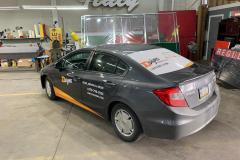 Car wrap in Allentown, PA, driver's side and rear view