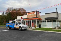 Installed channel letters in Coopersburg, PA for Dunkin, view 1