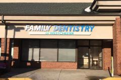 Family dentistry channel lettering in West Chester, PA, view 1
