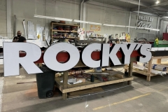Rocky's channel letters in Lehighton