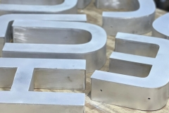Close up of channel letters in Coopersburg