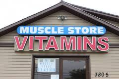 Muscle Store Channel Lettering in Easton PA