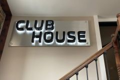 Indoor channel letters with backlighting
