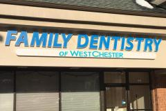 Family dentistry channel lettering in West Chester, PA, view 2