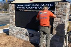 Installing LED message board in Doylestown, PA