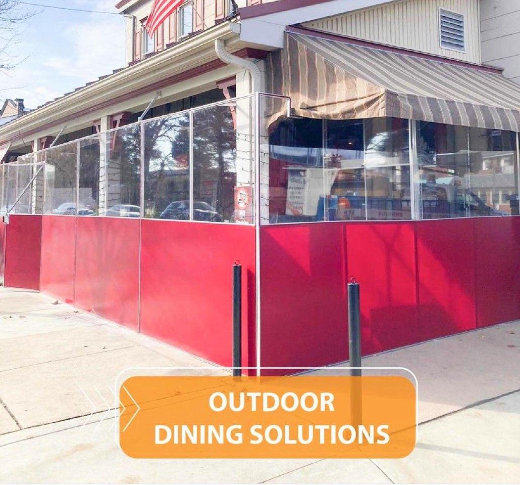 Outdoor dining COVID separation enclosure